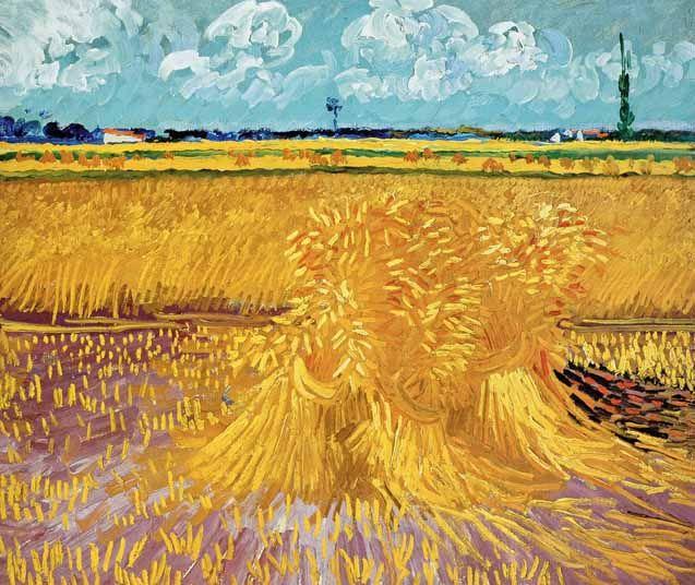 Champ de blé - Vincent VAN GOGH - juin1888                                                                                                                                                                                 Plus