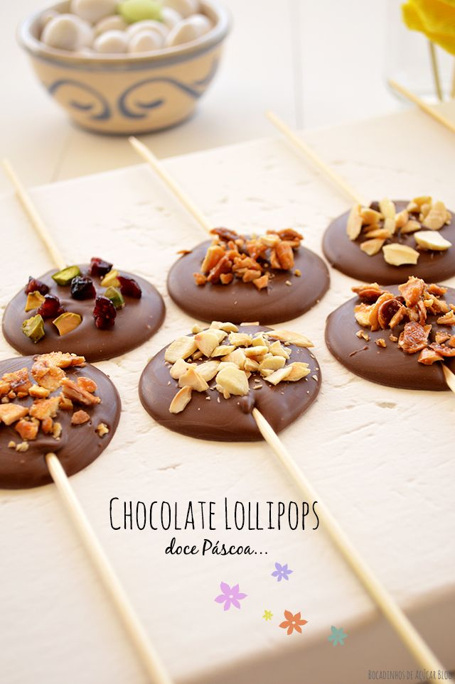 Bocadinhos de Açúcar: Lollipops de Chocolate de leite