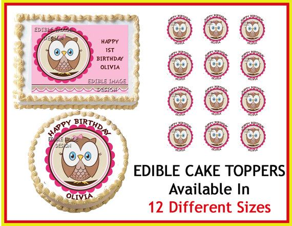 Edible Cake Image Owl : 58 best images about Etsy on Pinterest Pink mossy oak ...