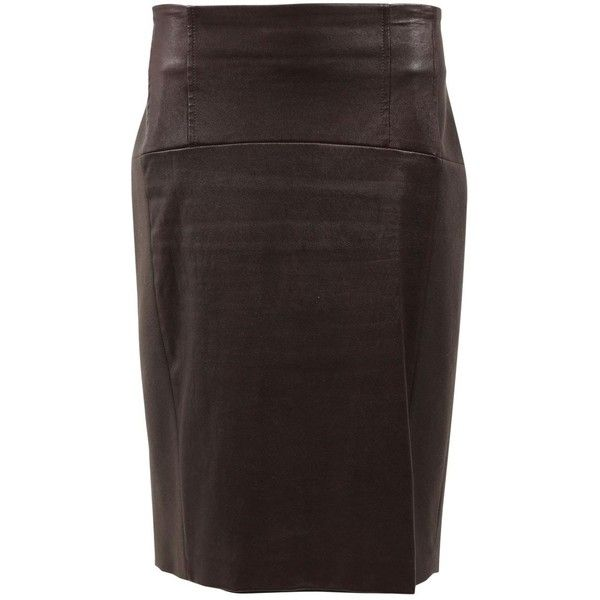 Pre-owned Brunello Cucinelli Wool Mid-Length Skirt (13.015 RUB) ❤ liked on Polyvore featuring skirts, brown, women clothing skirts, mid length skirts, brown skirt, wool skirt, woolen skirt and brunello cucinelli