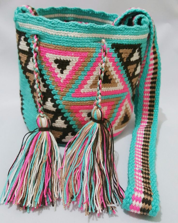 Wayuu Bag-Pattern Blue - Alynshop
