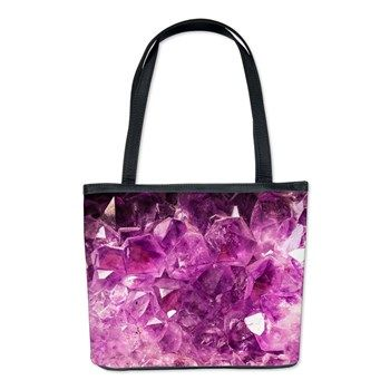 Amethyst Healing Gemstone Bucket Bag
