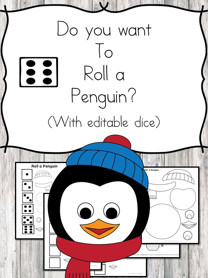 Do you want to roll a penguin? https://www.sightandsoundreading.com/do-you-want-to-roll-a-penguin/?utm_campaign=coschedule&utm_source=pinterest&utm_medium=Mrs.%20Karle%27s%20Sight%20and%20Sound%20Reading%7C%20Literacy%20Lesson%20Plans%20and%20%20educational%20activities&utm_content=Do%20you%20want%20to%20roll%20a%20penguin%3F Do you want to roll a penguin? Cute fun cut/paste activity for preschool or kindergarten. Contains editable die.#winter#forkids#teachers#educational#fun