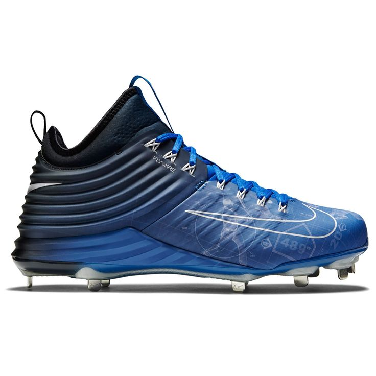 New NIKE Lunar Trout 2 II Blueprint Mid Metal Baseball Cleats Blue : Mens  Size 8