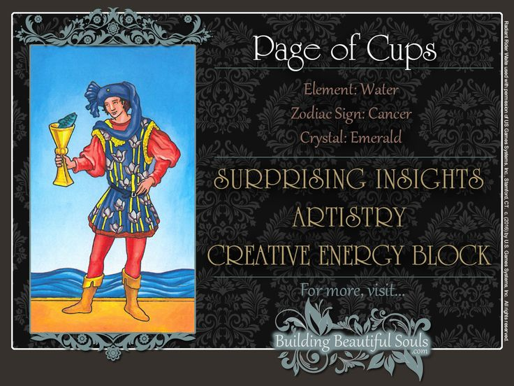 THE Page of Cups TAROT CARD MEANINGS - UPRIGHT& REVERSED! The Page of Cups Tarot includes LOVE, NUMEROLOGY, & SYMBOLS for more accurate TAROT READING.