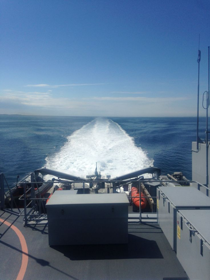 View from a minesweeper - somewhere at sea