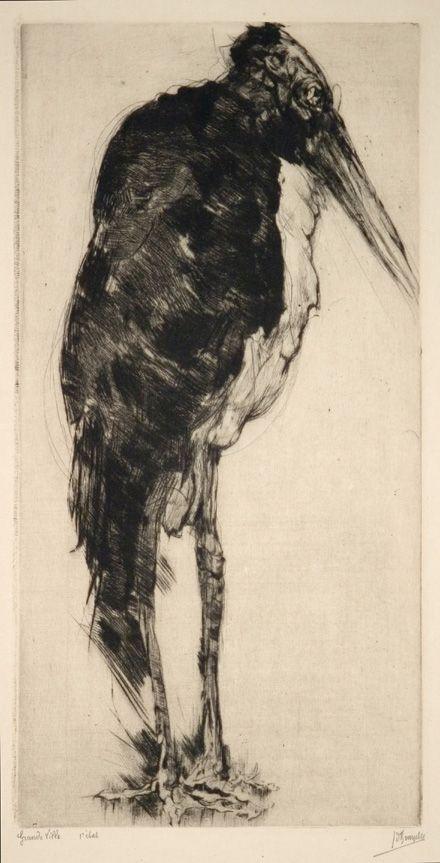 Jules De Bruycker  [Raven]  etching  Prachtig werk!