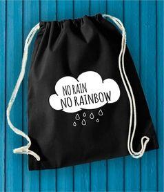 NO RAIN NO RAINBOW #funfara #placak #work #bags #bag #cluds #rain #rainbow #norain #norainbow #print #school #tumbrlstyle