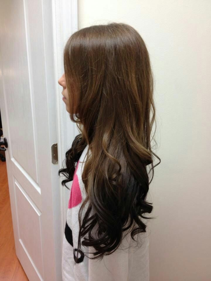 How I want my hair to look!  reverse ombre