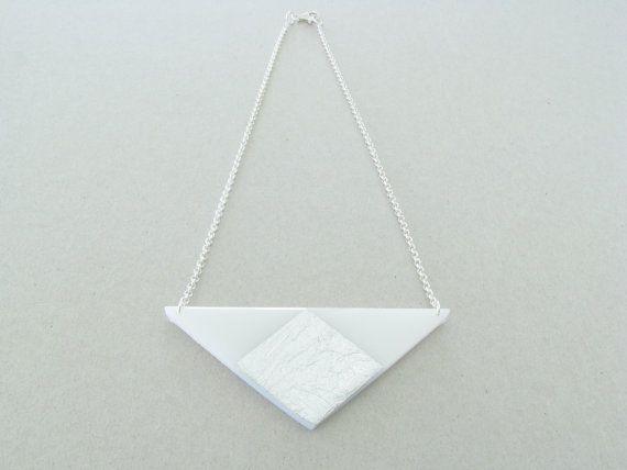 Triangle Geometric Necklace Resin Necklace by SotiriaVasileiou, $27.00