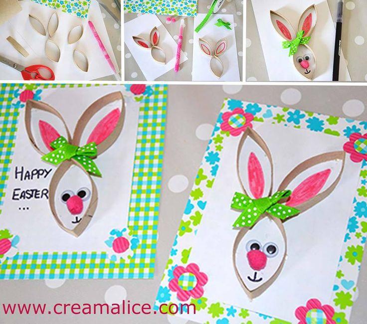 ❀ ✄ DIY Lapin Récup Rouleau Papier Toilette / DIY Bunny Toilet Paper Roll ✄ ❀ www.creamalice.com