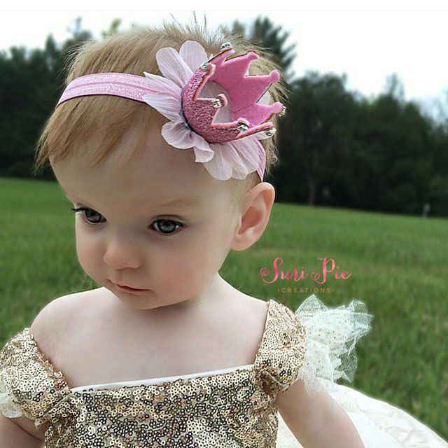 Crown Headband...Princess crown Headband..Baby by SuriPieCreations