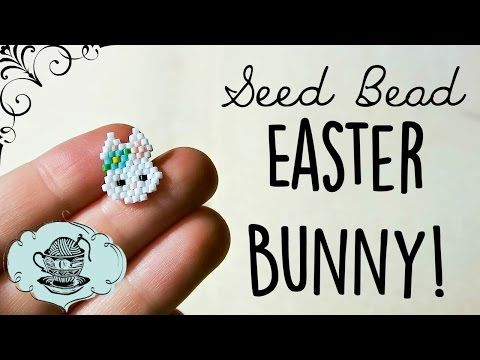 DIY Seed Bead Easter Spring Bunny // Bead Weaving // ¦ The Corner of Craft - YouTube