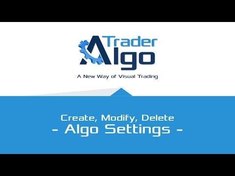 Working with Algo Strategy Settings