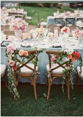 Decorate the bride and grooms chair for their 2014 Spring Wedding #Weddings #WeddingIdeas
