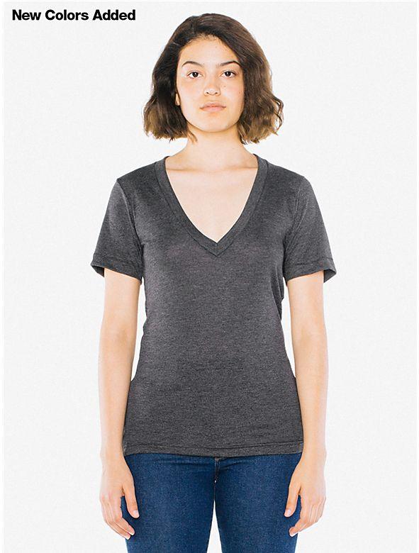 8972b8ee5 Unisex Tri-Blend Deep V-Neck T-Shirt | Clothing I Need | T shirts ...