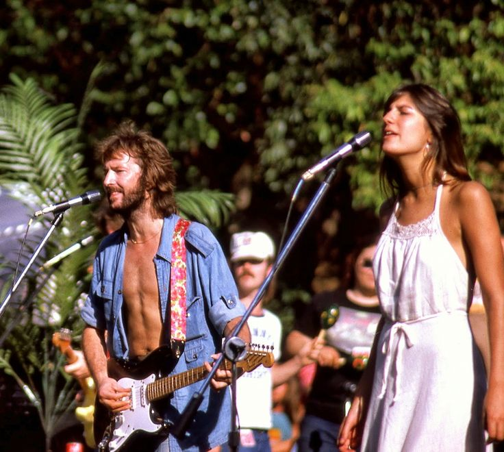 Eric Clapton & Marcy Levy, Stanford University,California, 1975
