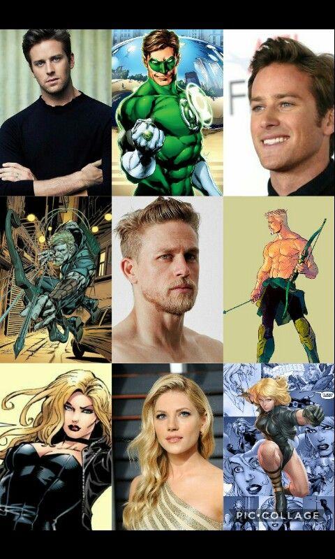 My DCEU fan cast Armie Hammer Hal Jordan Green Lantern Charlie Hunnam Green Arrow Katheryn Winnick Black Canary