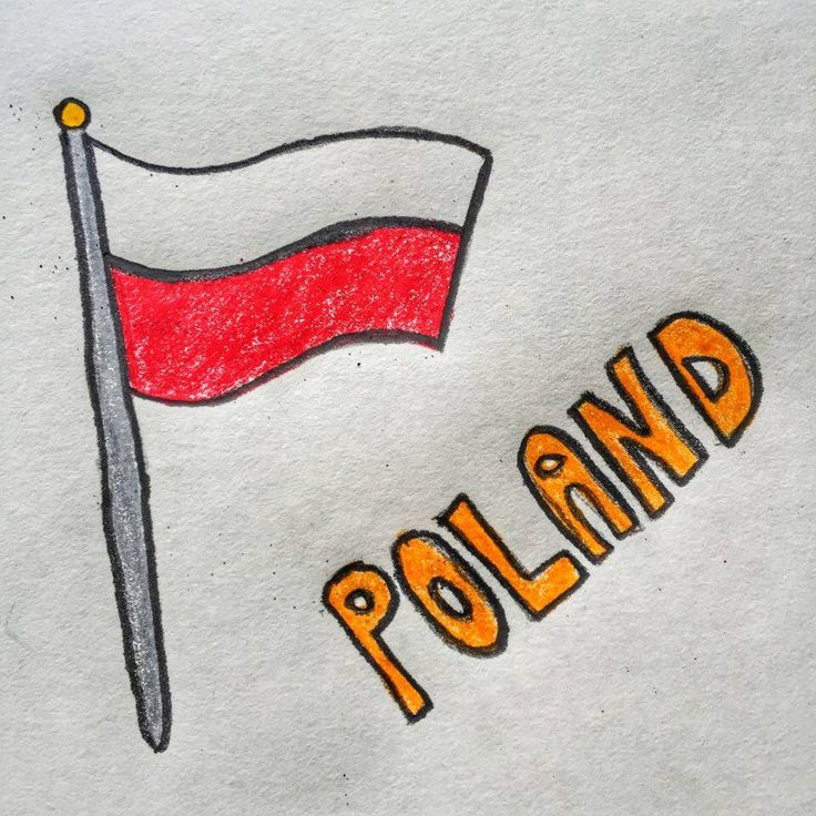 The flag of Poland consists of two horizontal stripes, white on the top and red on the bottom. These colors are the national colors of Poland (as defined by the Polish constitution).