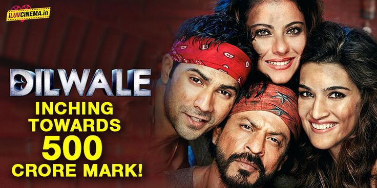Worldwide Box Office Collection: Dilwale inching towards 500 Crore mark! dilwale Box Office Collection: Shah Rukh Khans Dilwale has collection whopping amount worldwide.