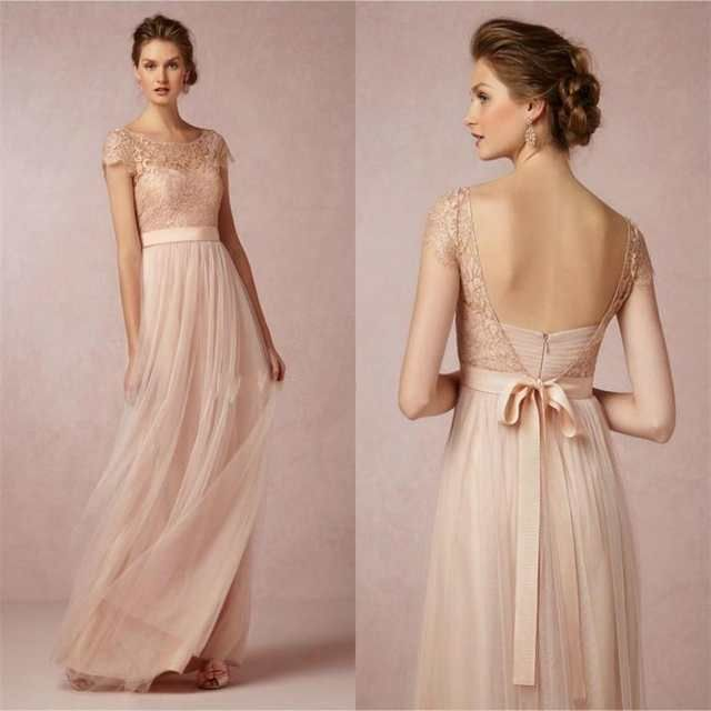 2015 Vintage Spitze Brautjungfer Kleider Erroten Rosa Gunstige Backless High Neck Mutter Der Braut Formales Kleid Mit Bogen Gurtel Mit Bildern Brautjungfern Kleider Kleider Hochzeit Trauzeugin Kleid