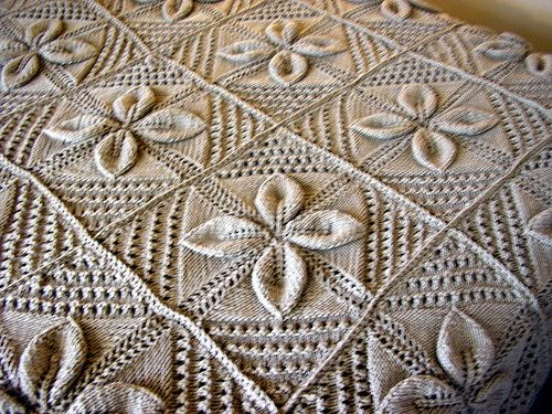 knit counterpane,  Ravelry.  Kitchycait, via Flickr