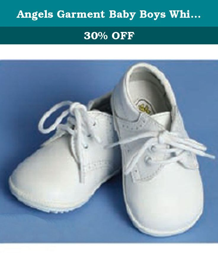 Angels Garment Baby Boys White Size 3 Oxford Dress Shoes. The perfect shoes from Angels Garment Company to complete his christening outfit. These comfortable white lace up baby shoes feature oxford accents . The perfect shoe to complete any outfit.