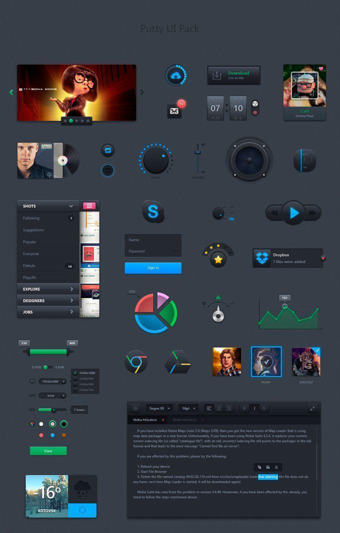 20 packs UI kits gratuits et complets pour vos créations web | Blog du Webdesign