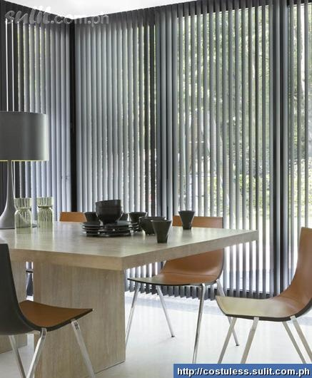 Vertical Blinds. Nice use of neutral colors