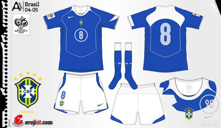Brazil | away jersey | 2004-06