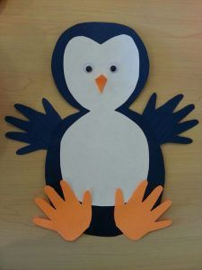 free penguin craft idea for kids                                                                                                                                                                                 More
