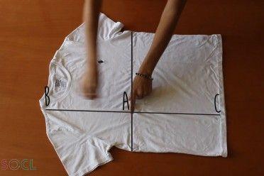 Mira este r pido truco de como doblar una camiseta en 2 - Truco para doblar camisetas ...