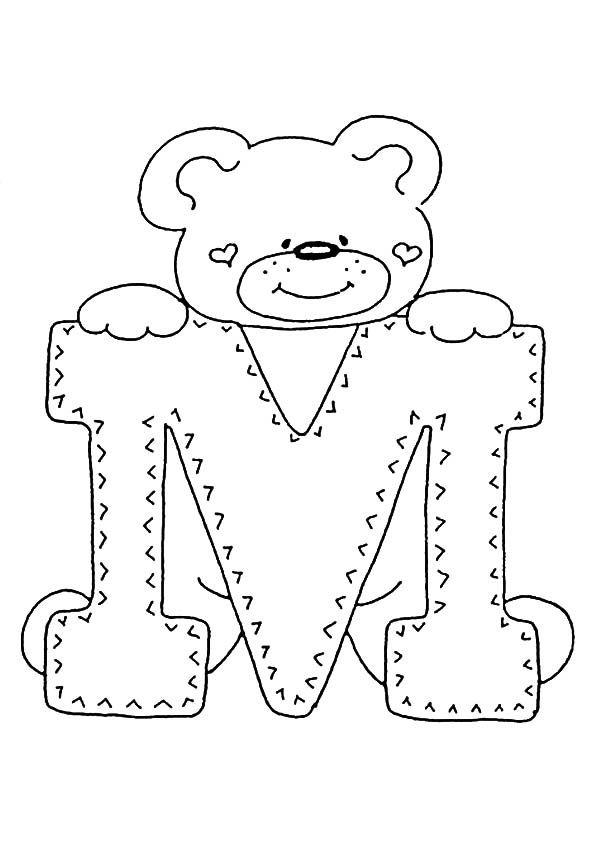 Ausmalbilder Buchstaben M Ausmalbilder Ausmalbilder Zum Ausdrucken Stickerei Alphabet