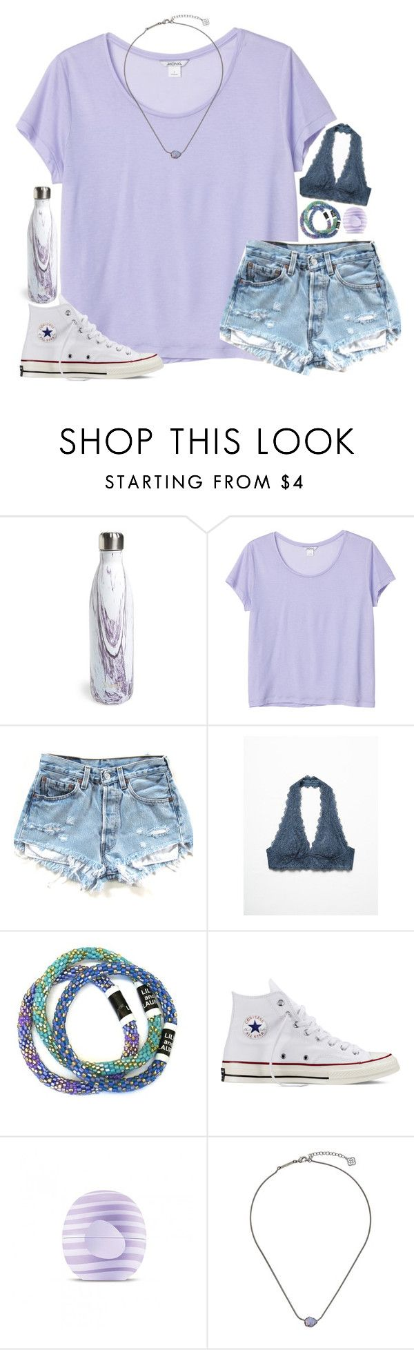 """""""converse match everything"""" by julesamber ❤ liked on Polyvore featuring S'well, Monki, Free People, Converse, Eos and Kendra Scott"""