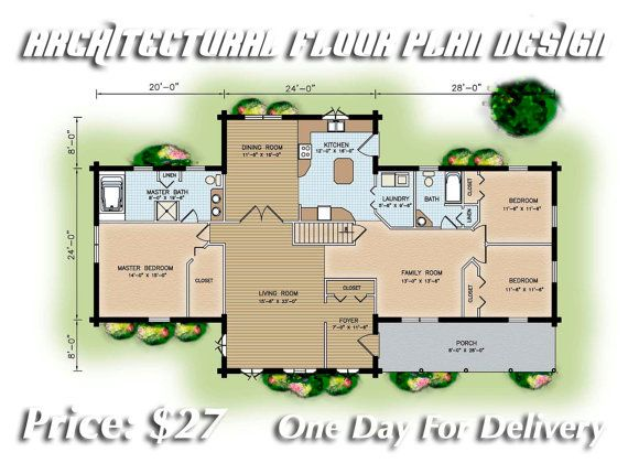 Architectural Floor Plans by ISBARTDESIGN on Etsy