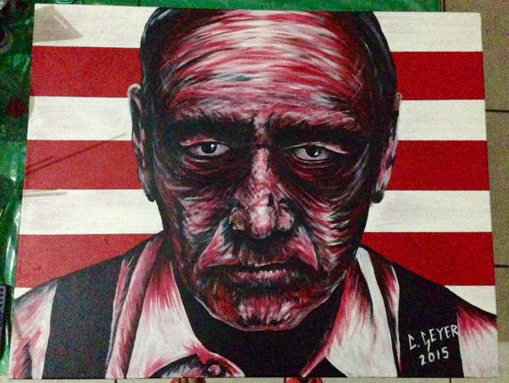House of cards artwork painting