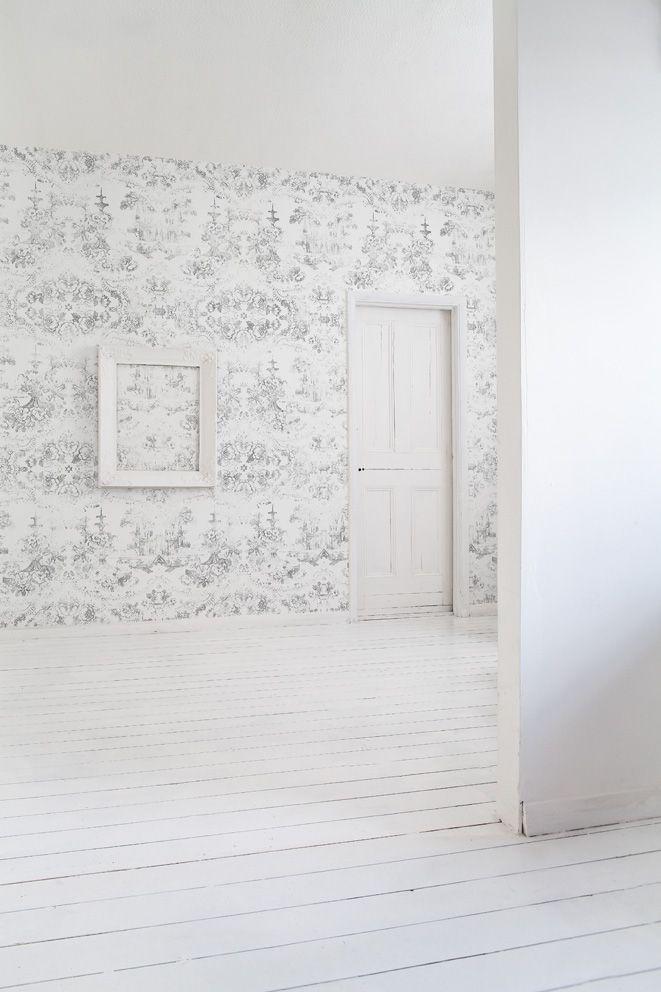Almost White Delft Baroque Wallpaper