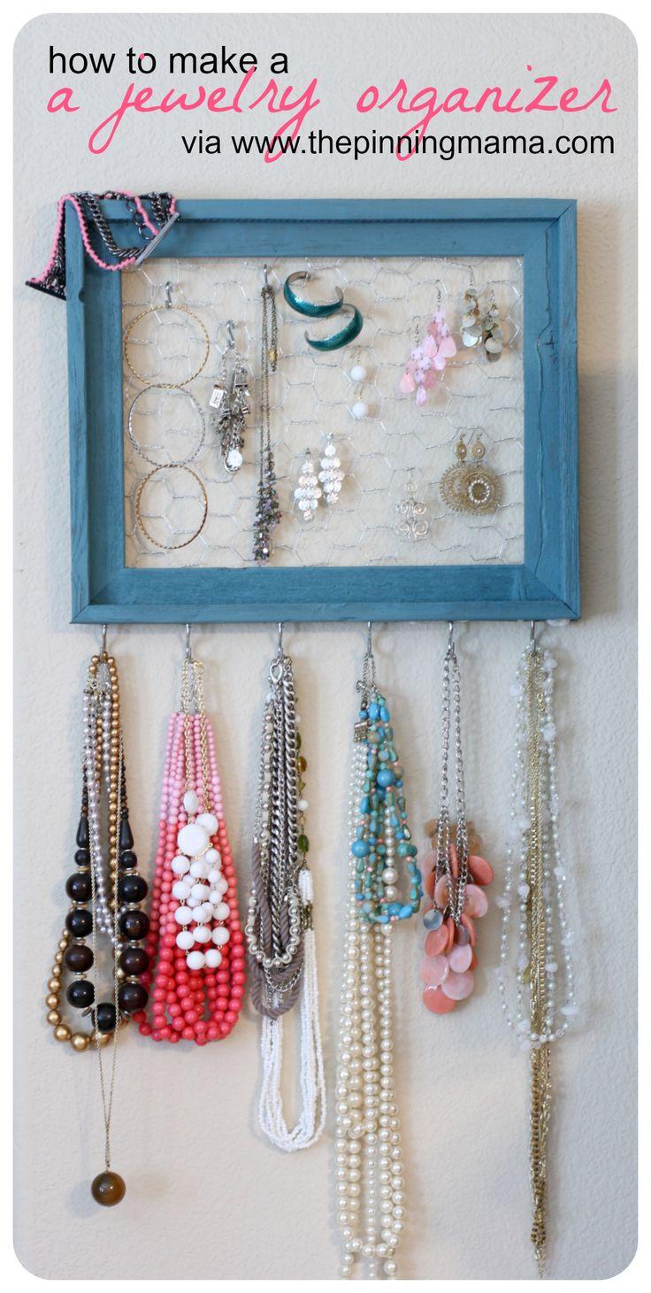 {diy} How to Make a Jewelry Organizer