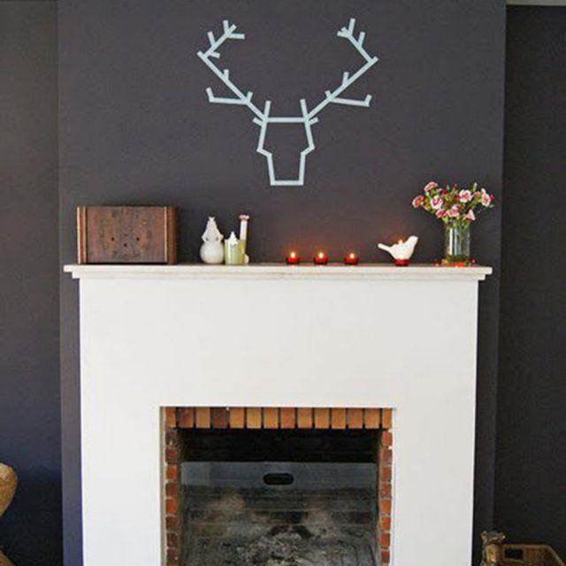 le plein d 39 id es d co au masking tape do it yourself pinterest d corations murales tapas. Black Bedroom Furniture Sets. Home Design Ideas