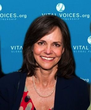 Sally Field, famous for her roles on the big and small screens which now span a 48 year career, is an active member on the board for Vital Voices, an initiative begun by Hillary Rodham Clinton and Madeleine Albright. Field attended the U.N. Fourth World Conference on Women Beijing conference back in 1995 and said her time in Asia prompted her to take a bigger role in women's causes.