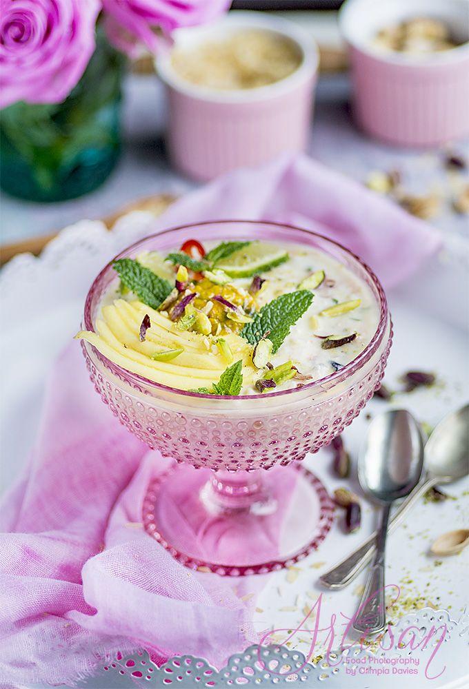 Pomysłowe Pieczenie: Aromatyczny ryż jogurtowy z owocami i ryżowym pudrem #food #foodphotography #foodstyling #sweet #pudding