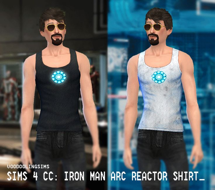 SIMS 4 CC: IRON MAN ARC REACTOR SHIRTS DOWNLOAD HERE | The ...