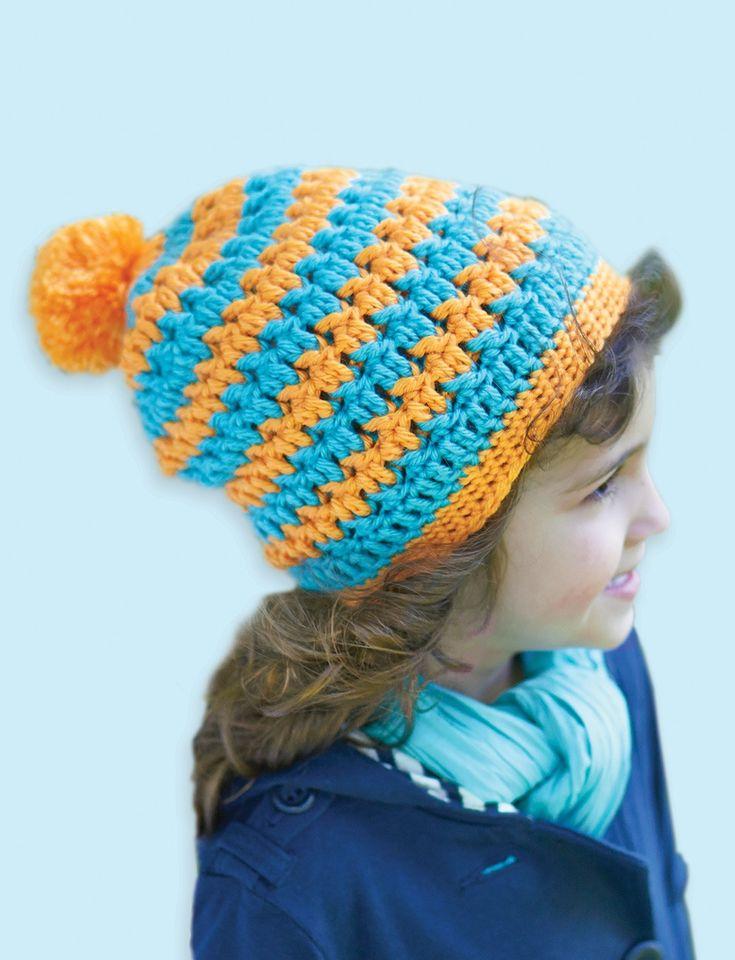 Yarnspirations.com - Caron Textured Hat - Patterns ...