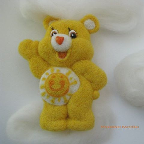 Image result for needle felted carebear