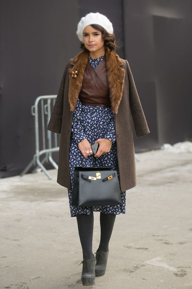Miroslava Duma could have stepped right out of the pages of an editorial in her prim and proper remix.  Source: Melodie Jeng/The NYC Streets