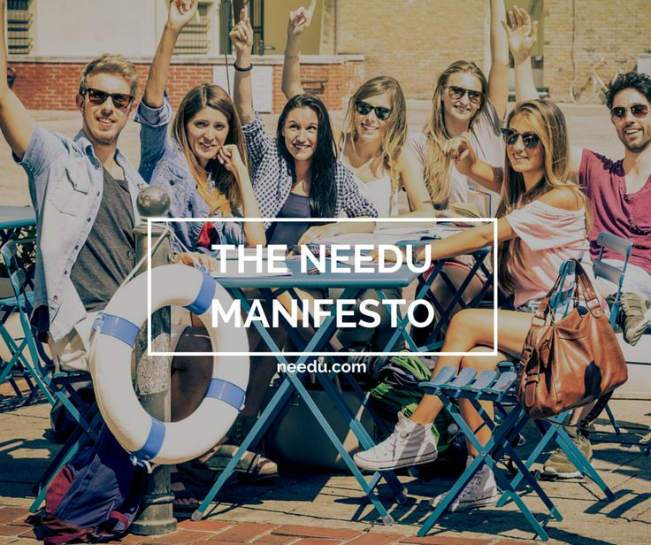 Four weeks ago we put on paper what we stand for. Here is our manifesto to you.