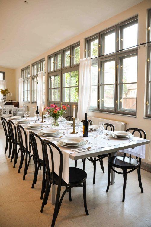 Simple yet elegant table setting #foodandinspiration #porch #formerschool #commonarea #visittransylvania #cincsor @Cincsor.Transylvania.Guesthouses
