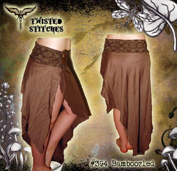 Bamboozled - silky bamboo layer skirt - size 10-12 - OOAK