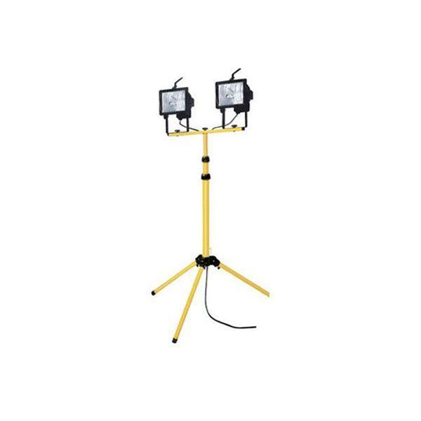 Projecteur Halogène sur pieds 2x500W maxi. Alim: 220V. Hauteur: 90 à 180cm.Location projecteur halogène sur pied à Obermorschwihr (68420) - www.placedelaloc.com