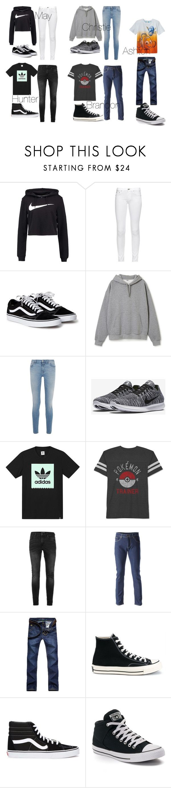 """""""Hello clothes"""" by torilee-03 ❤ liked on Polyvore featuring NIKE, rag & bone, Givenchy, adidas, JEM, Disney, Topman, Converse and Vans"""